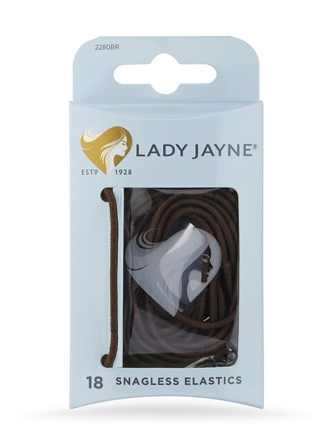 Brown Snagless Elastics - Pk18