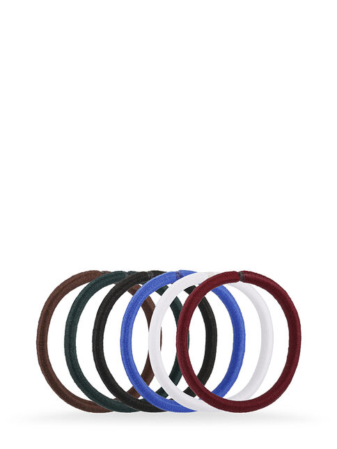 Assorted Snagless Thick Elastics  - Pk 10