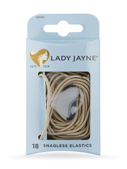 Blonde Snagless Elastics - Pk18