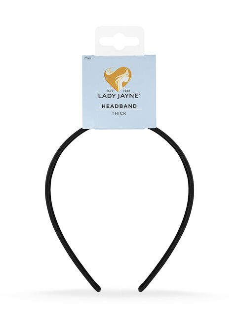 Thick Satin Headband - Black