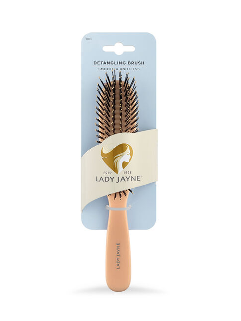 Pastel Coral Smooth & Knotless Detangling Brush - Large