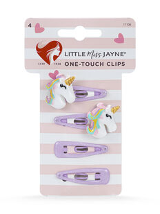 Unicorn One Touch Clips 4 Pack