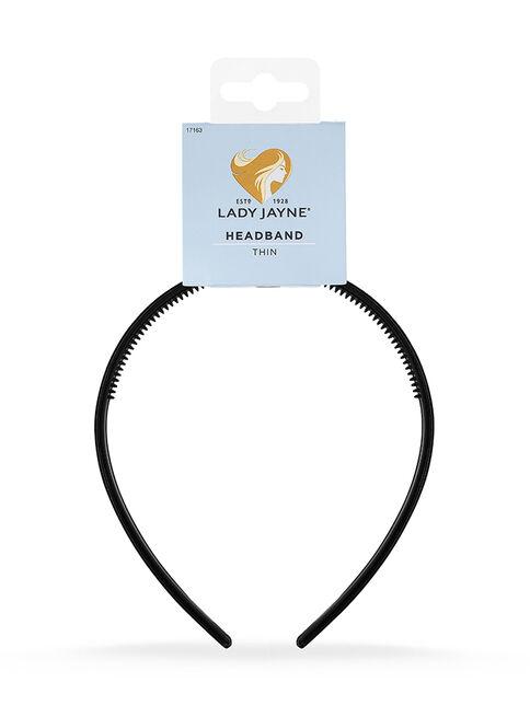 Thin Velvet Headband - Black