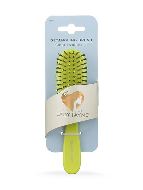 Green Smooth & Knotless Detangling Brush - Purse-Sized