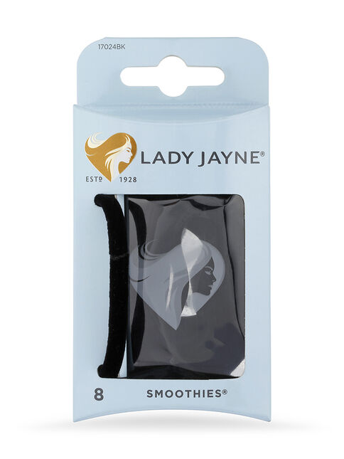 Smoothies Black Luxury Elastics - 8 Pk