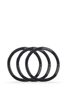 Black Super Hold Thick Elastics - Pk 10