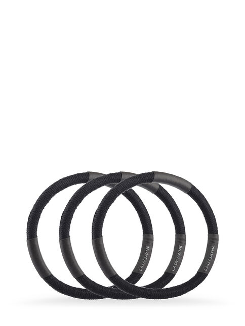 Black Super Hold Thick Elastics - Pk 10