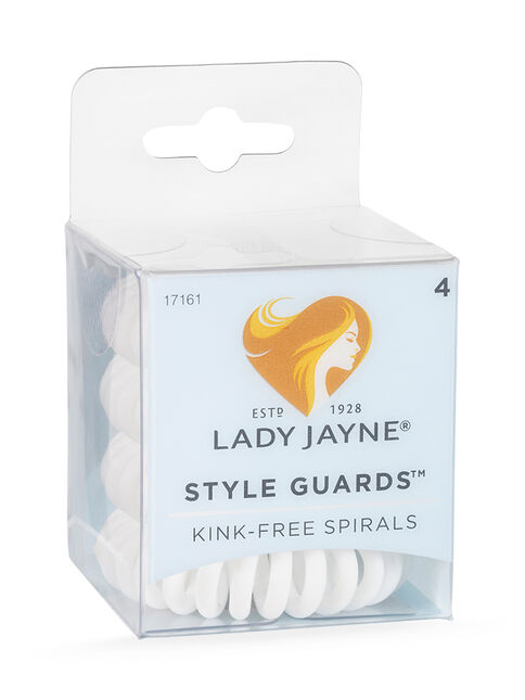 Style Guards White Kink Free Spirals - 4pk