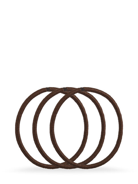 Brown Snagless Elastics - Pk18