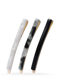 Black Slim Slides - 3 Pk