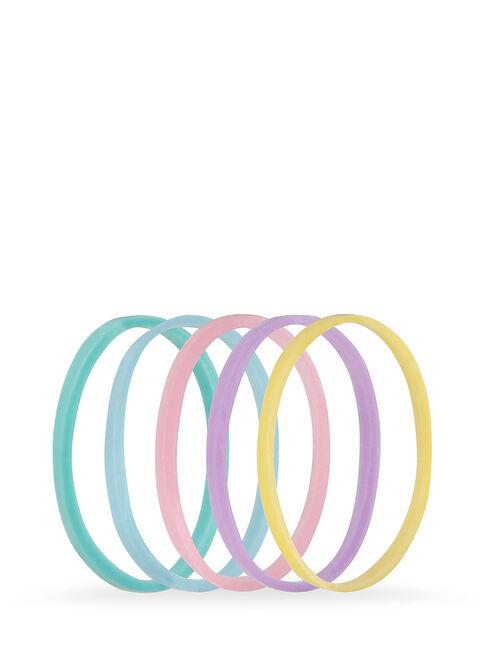 Pastel Snagless Small Elastomer Elastics - Pk 50
